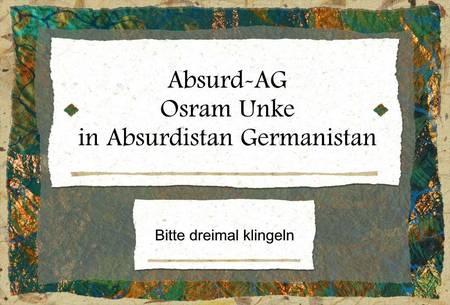 Oskar Unke auf Absurd-AG