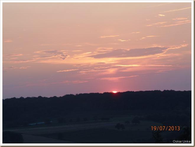 Abendsonnenuntergang