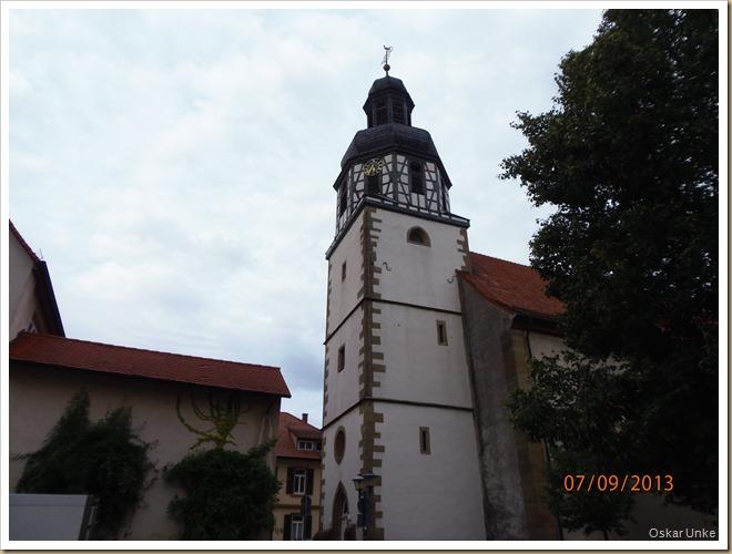 Kirchturm Kirche in Gochsheim