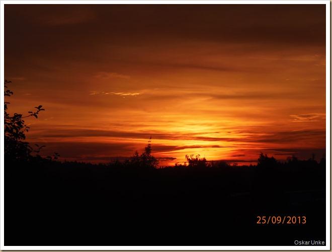 Sonnenuntergang Wössingen