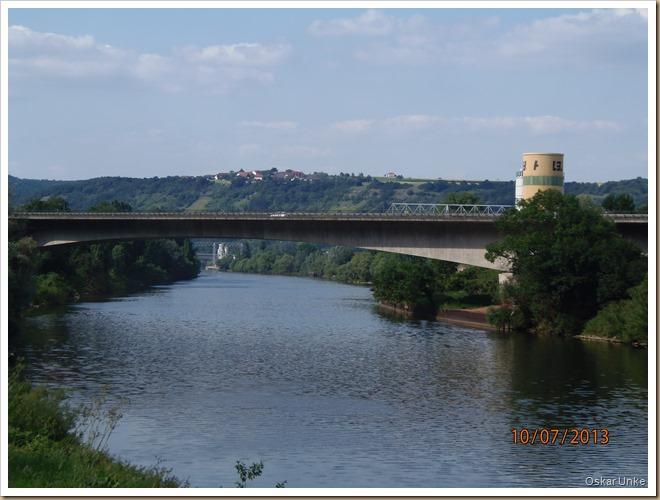 Neckarbrücke bei Obrigheim