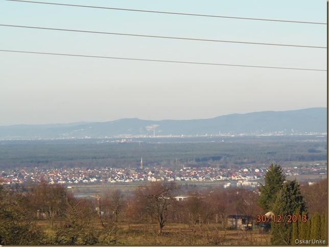 Blick vom Michaelsberg zum kleinen Odenwald