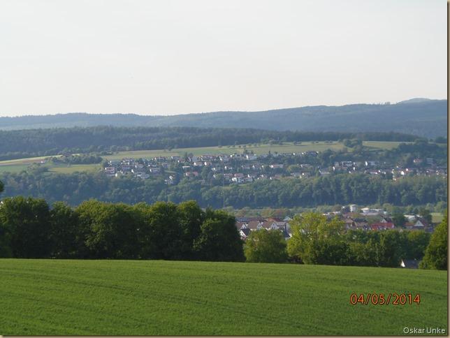 Blick auf Obrigheim und Binau