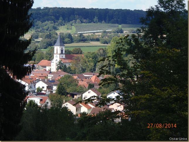 Blick auf Ev. Kirche Wössingen