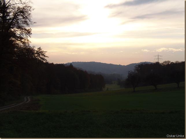 Abendstimmung im Wöschbacher Tal