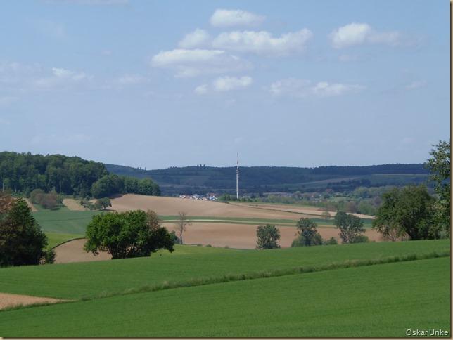 Blick in Richtung Walzbachtal Jöhlingen