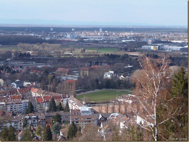 Blick vom Turmberg auf Durlch