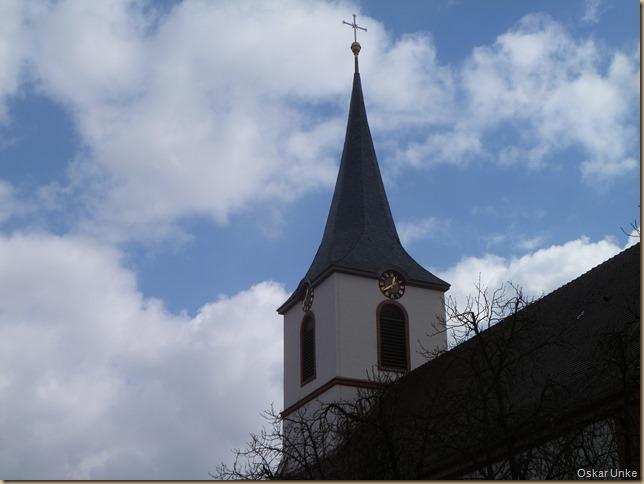 Turm der St. Martin Kirche Jöhlingen