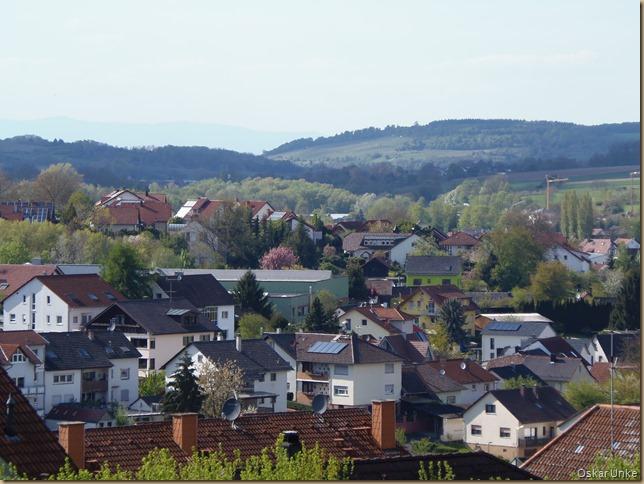 Blick über Wössingen nach Weingarten