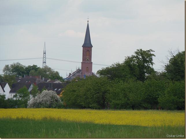 Blick auf Leopoldshafen