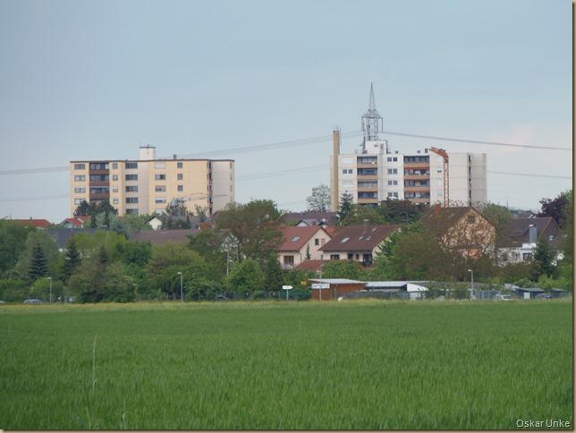Hochhäuser in Leopoldshafen