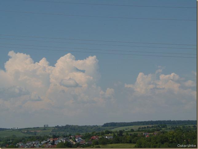 Wolken im Westen