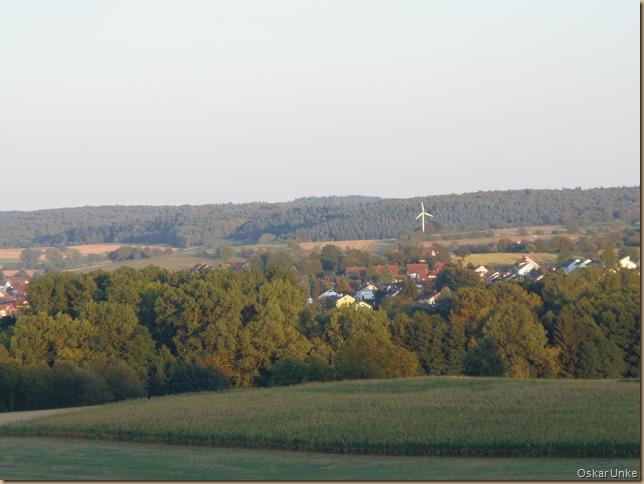 Blick auf Wössingen in der Abendsonne