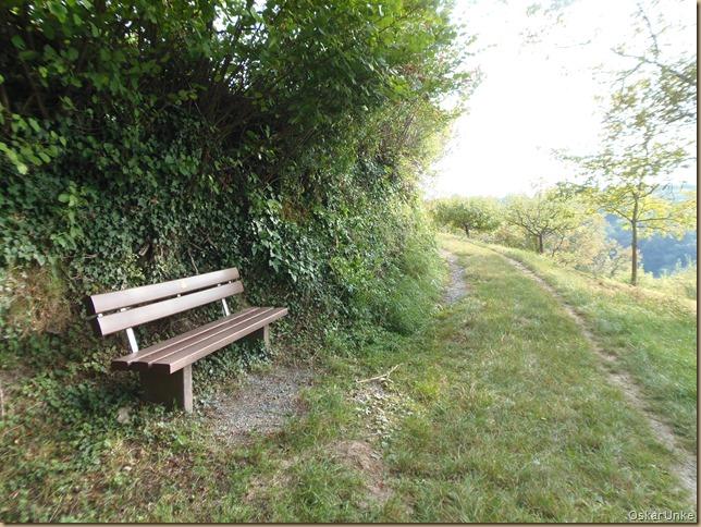 idyllische Sitzbank