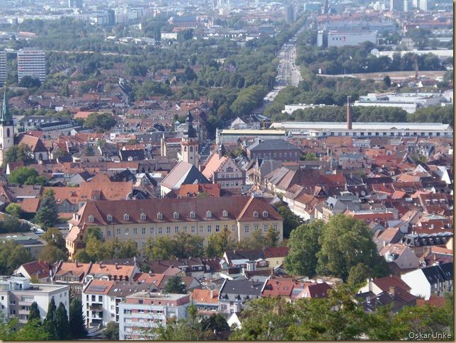 Blick auf Durlach mit Karlsburg