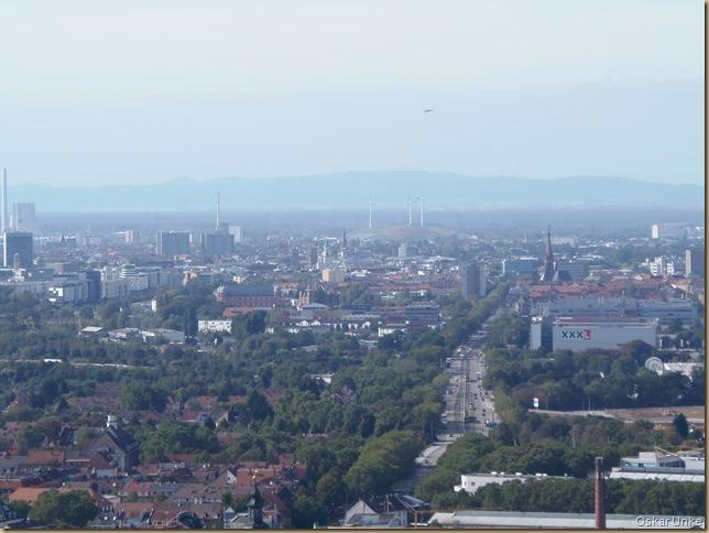 Blick nach Karlsruhe
