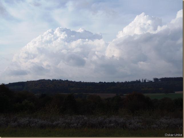 gewalltige Wasserwolken unterwegs