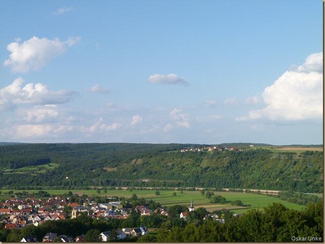 Blick auf Obrigheim und Schreckhof