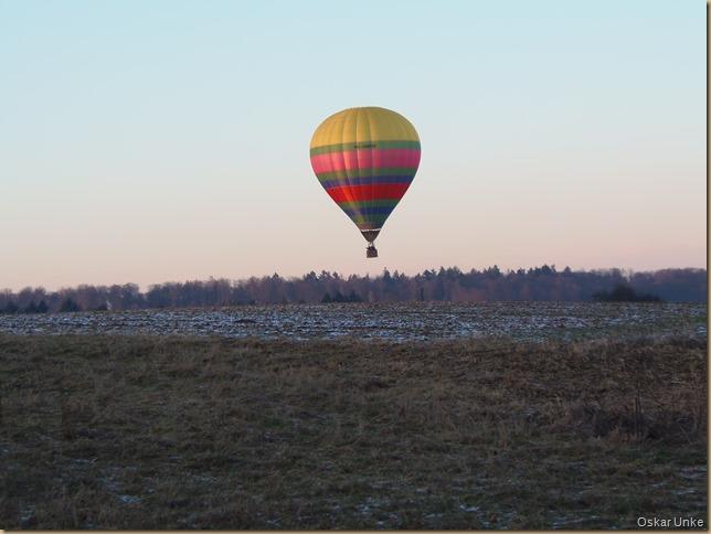 Ballonfahrer bei Kälte