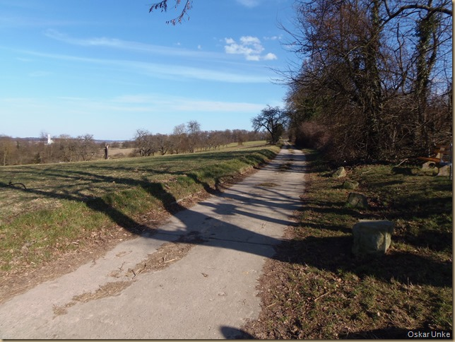 Feldweg Richtung Wössingen