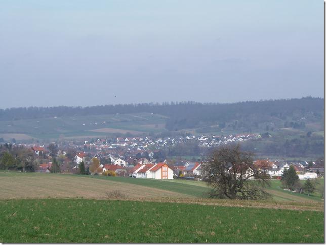 Blick auf Helmsheim + Heidelsheim