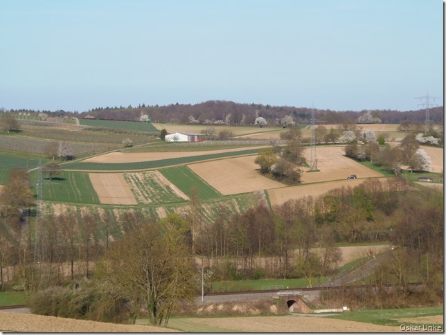 Landschaft zwischen Jöhlingen und Wössingen