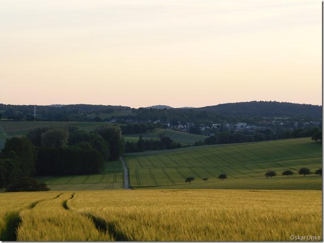 Blick auf Wössingen im Abendlicht