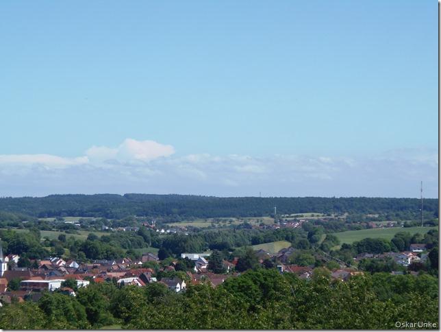 Blick zurück auf Jöhlingen und Wössingen
