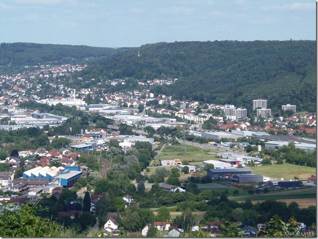 Blick nach Mosbach