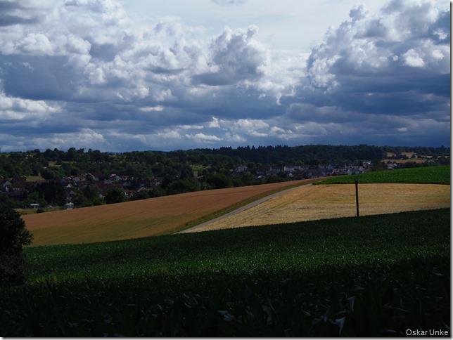 Wolken über Wössingen