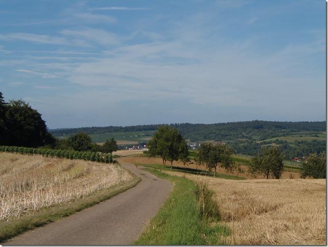 In Richtung Heidelsheim + Helmsheim