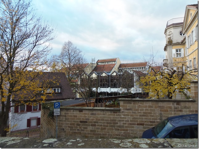 Blick auf das Brettener Rathaus
