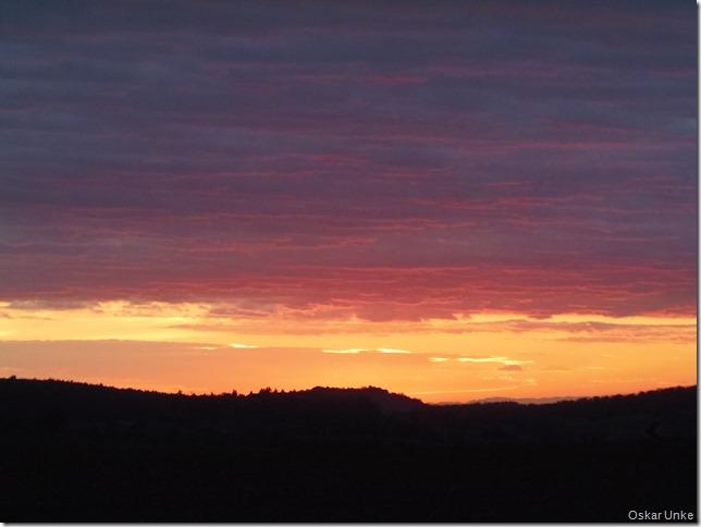 Sonnenuntergang Jöhlingen