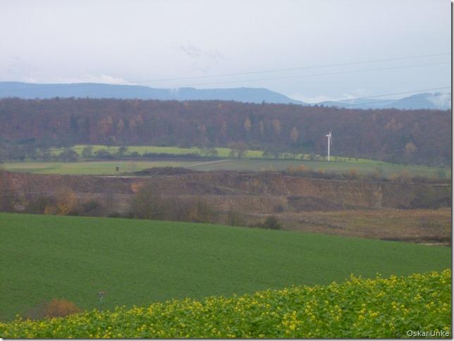 Blick auf Steinbruch und Schwarzwald