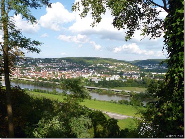Blick auf Neckar und Diedesheim, Neckarelz und Mosbach