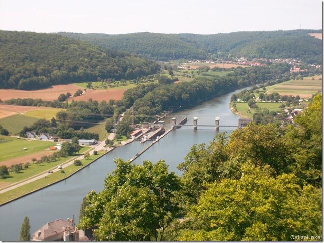 Blick auf Neckarschleuse