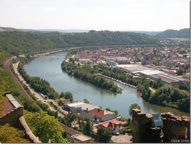 Blick von der Hornburg auf den Neckar