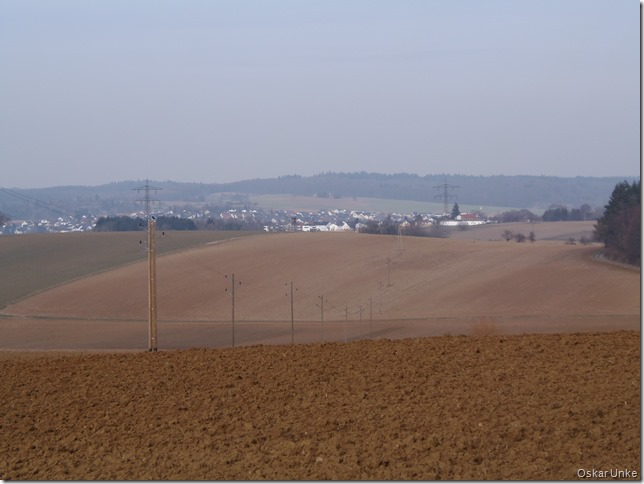 Blick in Richtung Diedelsheim