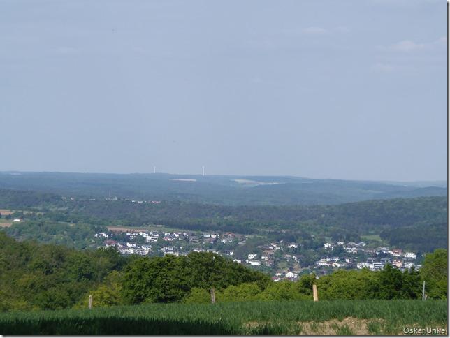 Blick vom Finkenhof in Richtung Odenwald