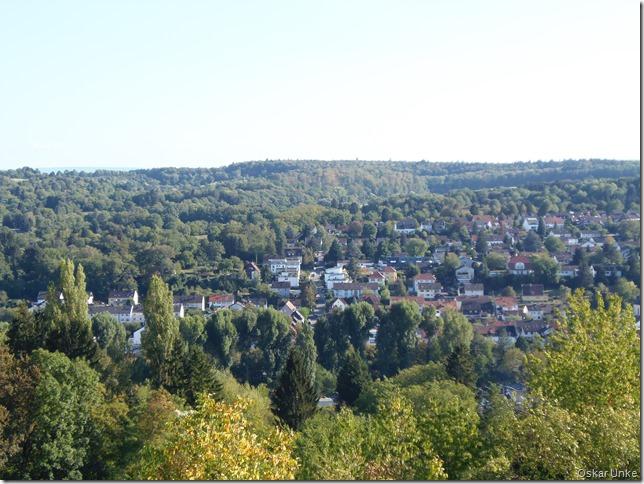 Blick auf Berghausen und Grötzingen